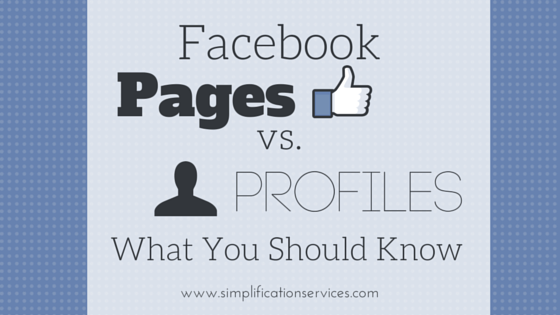 Facebook Pages vs Profiles