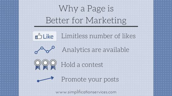 for pages vs profiles