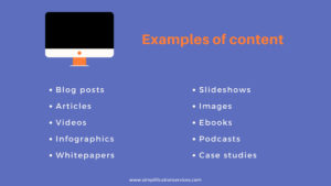Content examples to include in social media strategy.
