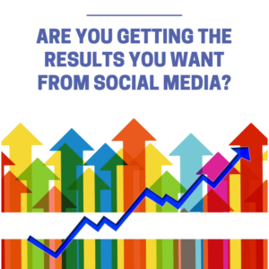 Graph with question: Are you getting the results you want from social media?